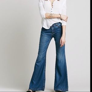 Free People Wide Leg Jean